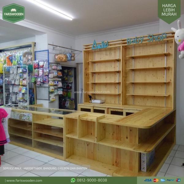 Etalase Kayu (Baby Shop)